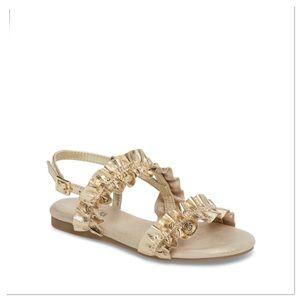 🆕 Michael Kors Girls Demi Frillz Sandals - Gold
